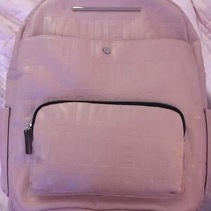 Pink Steve Madden backpack with pink wallet